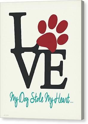Dog Stole Canvas Print by Jo Moulton