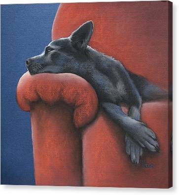 Dog Tired Canvas Print by Cynthia House