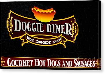 Doggie Diner Canvas Print by Mitch Shindelbower