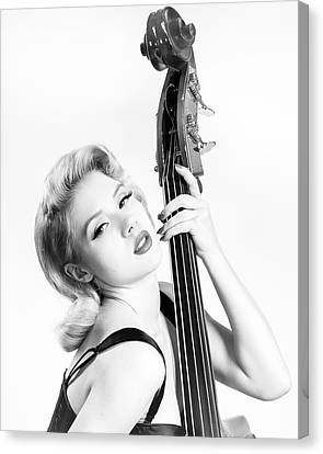 Doghouse Portrait Of Mosh - Double Bass Canvas Print by Gary Heller
