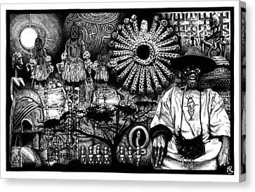 Dogon Dream Canvas Print by Matthew Ridgway