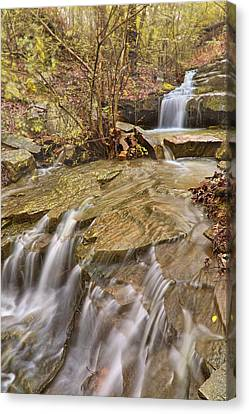 Dogtown Falls - Arkansas - Emerald Park - North Little Rock Canvas Print by Jason Politte