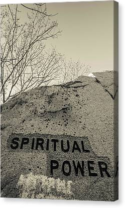 Dogtown Rock With Inspirational Words Canvas Print