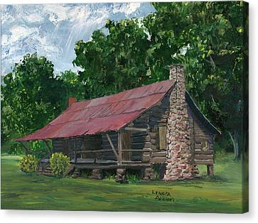 Dogtrot House In Louisiana Canvas Print by Lenora  De Lude