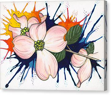 Dogwood Flowers Canvas Print by Nora Blansett