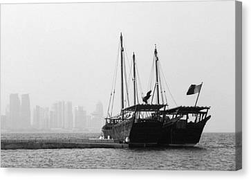 Doha Bay 2011 Canvas Print by Paul Cowan