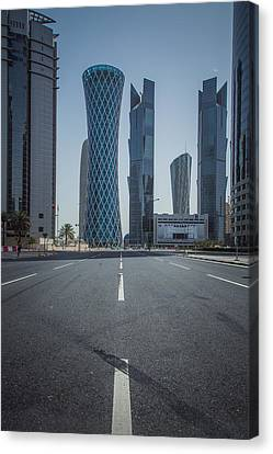 Doha Road Canvas Print by Charlie Tash