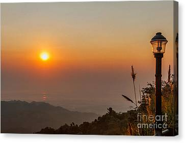 Doi Tung Sunset Canvas Print by Adrian Evans