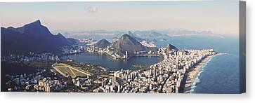 Dois Irmaos Canvas Print - Rio Panoramic by Jose Luiz Mendes