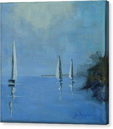 Canvas Print featuring the painting Doldrums by Jo Appleby