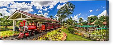 Dole Plantation Train 3 To 1 Aspect Ratio Canvas Print by Aloha Art