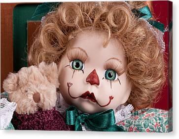 Doll Clown Canvas Print by Cindy Singleton