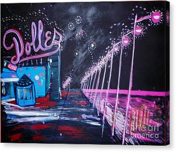 Dolles And Orion  Canvas Print by Leslie Byrne