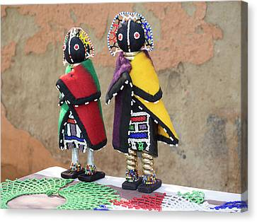 Dolls For Sale, Soweto, Johannesburg Canvas Print by Panoramic Images