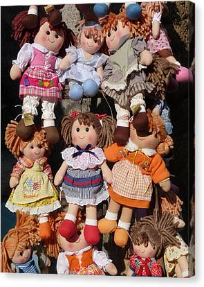 Canvas Print featuring the photograph Dolls by Marcia Socolik