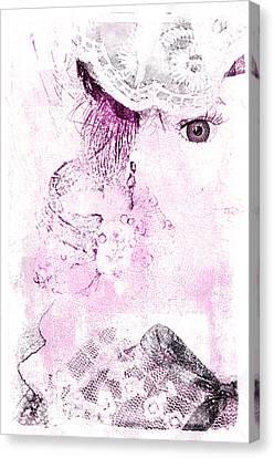 Canvas Print featuring the digital art Dolly by Davina Washington