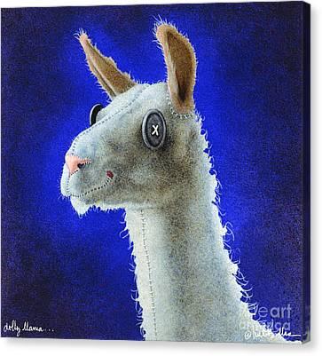 Llama Canvas Print - Dolly Llama... by Will Bullas