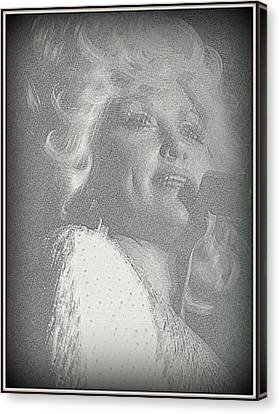 Dolly Parton Canvas Print by Kay Novy