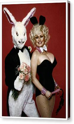Playboy Bunny Canvas Print - Dolly With Playboy Rabbit by Brian Graybill