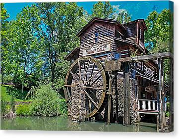 Canvas Print featuring the photograph Dollywood  by Trace Kittrell