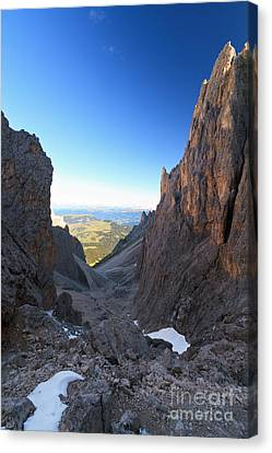 Canvas Print featuring the photograph Dolomites At Morning by Antonio Scarpi