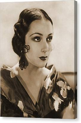Dolores Del Rio, Hollywood Movie Star Canvas Print by Photo Researchers