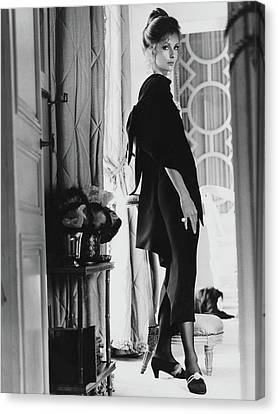 Dolores Canvas Print - Dolores Guinness Wearing Givenchy by Henry Clarke