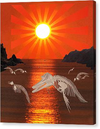 Dolphin Bay Taiji Cove Canvas Print by Eric Kempson