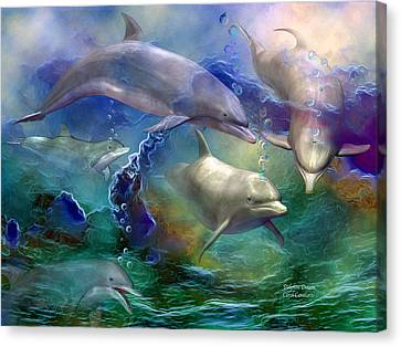Dolphin Dream Canvas Print by Carol Cavalaris