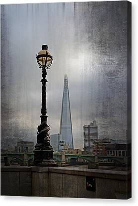 Dolphin Lamp Posts London Canvas Print by Lynn Bolt