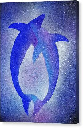Dolphins 3 Canvas Print