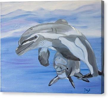 Sublime Dolphins Canvas Print