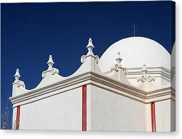 Dome At The Mission Canvas Print by Joe Kozlowski
