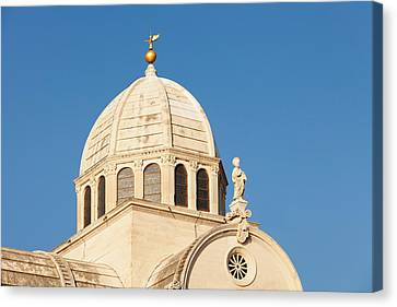 Dome Of A Cathedral, Sibenik Cathedral Canvas Print by Panoramic Images