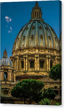 Canvas Print featuring the photograph Dome Of Michelangelo by Rob Tullis