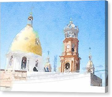 Warecolor Canvas Print - Dome by Zak Mil