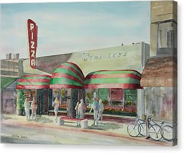 Domenicos In Long Beach Canvas Print by Debbie Lewis