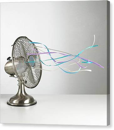 Blows Air Canvas Print - Domestic Fan Showing Air Movement by Science Photo Library