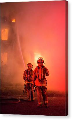 Domestic Fire Canvas Print