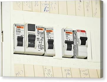 Domestic Fuse Box Canvas Print by Photostock-israel