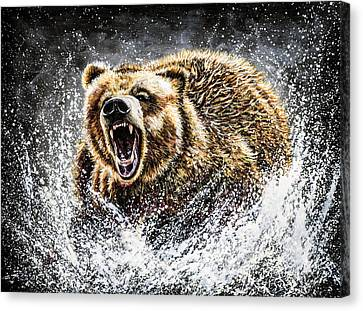 Power Canvas Print - Dominance by Teshia Art