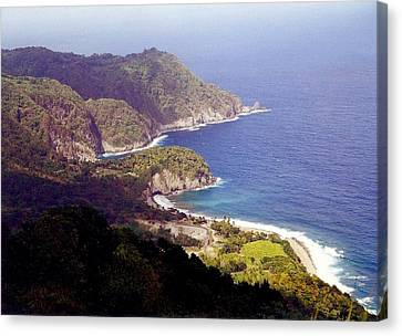 Canvas Print featuring the photograph Dominica Coast Line by Denise Moore