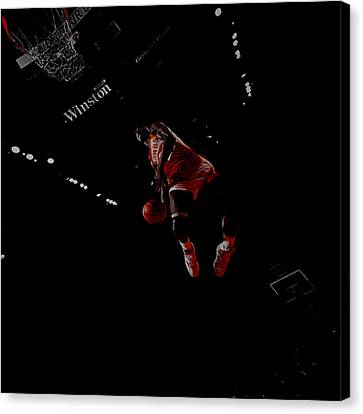 Julius Erving Canvas Print - Dominique Wilkins Took Flight by Brian Reaves