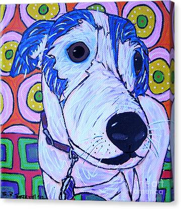 Domino Dog Canvas Print by Susan Sorrell