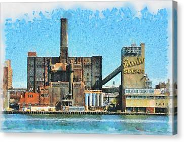 Domino Sugar New York Canvas Print by Mick Flynn