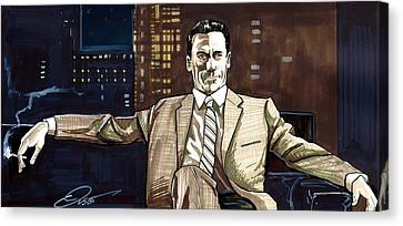 Print On Canvas Print - Don Draper by Dave Olsen