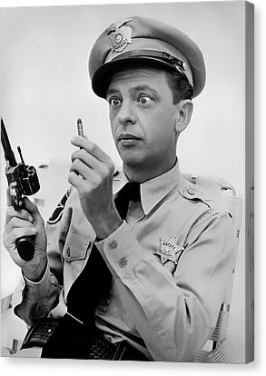 Barney Fife - Don Knotts Canvas Print by Mountain Dreams
