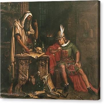 Don Pedro El Cruel Consultando Un Canvas Print