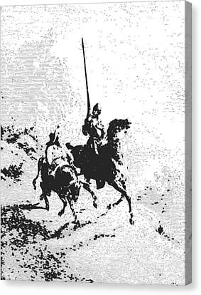 Don Quixote And Sancho Panza Canvas Print by