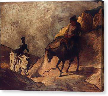Don Quixote And Sancho Panza Canvas Print by Mountain Dreams